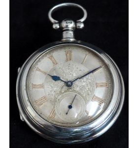 Antique Silver Pair Case Pocket Watch Fusee Lever Escapement Key Wind Silver Huntly & Losstemouth – A Simpson