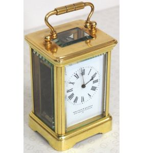 Antique Miniature 8 Day Carriage Clock by Walters & George Regent Street Rare