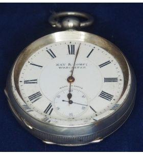 Antique Silver Pocket Watch Keyless Wind Open Face Pocket Watch Kay & Comp