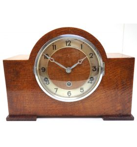 Good Arched Top Art Deco Mantel Clock – Musical Westminster Chiming 8-Day Mantle Clock