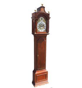 19THC Solid Walnut Longcase Grandfather Clock Joseph Herring London.
