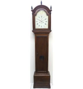 18THC Longcase Clock Fine English Oak Ashford Grandfather Clock Painted Dial C1757