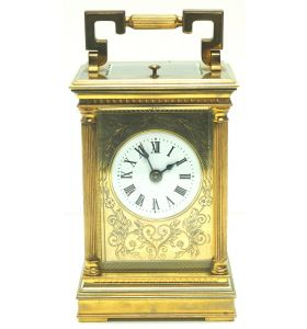 Fine French Repeat Carriage Clock With Foliate Carved Decoration By Charles Frodsham London