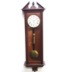 Antique German Single Weight Walnut 8-Day Vienna Regulator Wall Clock