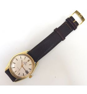 Vintage Men's Omega Automatic Sea Master Watch Date Aperture Circa 1970s