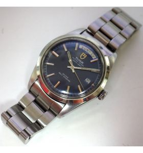 Vintage Men's Rolex Tudor Oyster Prince Day Date Watch Automatic Blue Dial Circa 1980s