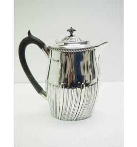 English Antique Solid Silver Hot Water Pot 721grams Circa 1901