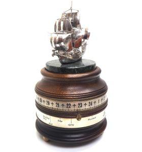 Charles Frodsham Mantel Clock St. James House Company – 24hr Mariners World Clock