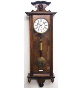 Antique Rocket Cased Single Weight Walnut 8-Day Vienna Regulator Wall Clock
