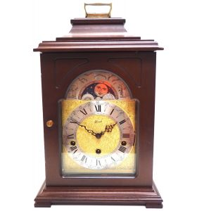 Fine Hermle Mantel Clock 8 Day Triple Chiming Bracket Clock with Moon Roller