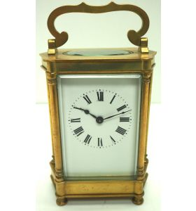 Rare & Unusual Cased Antique French 8-Day Timepiece Carriage Clock C1900