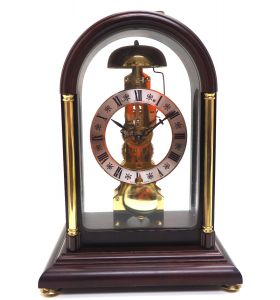 Fine Hermle Mantel Clock 8 Day Skeleton Mantle Clock with Passing Strike Feature