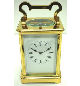 Large Classic Antique French 8-Day Gong Striking Repeating Carriage Clock C1880
