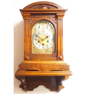 Westminster Chime Bracket Clock Art Nouveau 8-Day Musical Mantel Clock C1900 on Bracket
