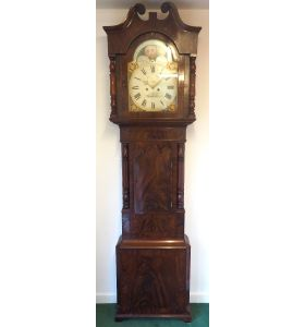 Fine English Longcase Clock D Cowed Manchester 8-Day Striking Grandfather Clock Solid Mahogany Case