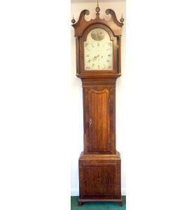 Fine English Longcase Clock Prince Hunslett 8-Day Striking Grandfather Clock Solid Mahogany & Oak Case