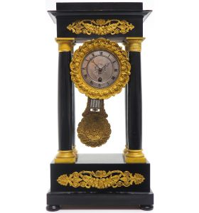 French Regulator Table Portico Mantel Clock Sought After Classic 8 day Clock