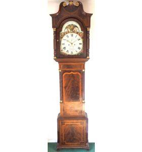 Fine English Longcase Clock John Fenton Congleton 8-Day Striking Grandfather Clock Solid Mahogany Case
