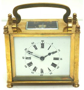 Interesting Antique French 8-Day Carriage Clock Rectangle Design
