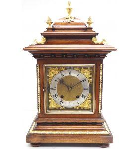 Superb Antique German mahogany 8-Day Mantel Clock Quarter Striking Bracket Clock by RMS