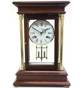 Howard Miller Signature Series Mantel Clock visible pendulum 4 Glass Mantle Clock