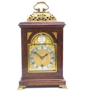 Stunning Burr Walnut Basket Top Bracket Clock by Charles Frodsham Clock Makers to The King.