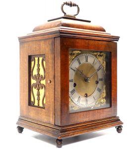 Miniature Lenzkirch Chiming Mantel Clock German Westminster Chime Bracket Clock