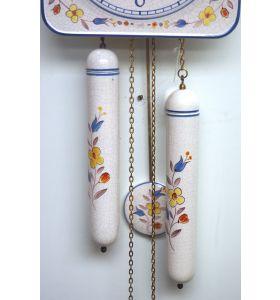 Rare Kitch Ceramic Pot Clock – Weight Driven 1950s Kitchen Striking Wall Clock