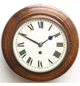 English Dial Wall Clock Rare Station Public Fusee Dial Wall Clock with 7 Inch Dial