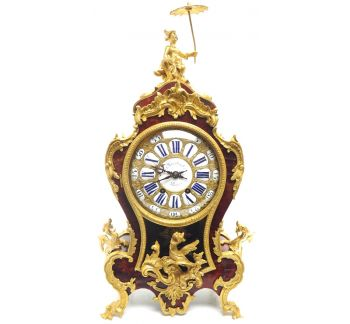 Outstanding Martinto Paris French Boulle Mantle clock Ormolu Dragons Chinese Rider