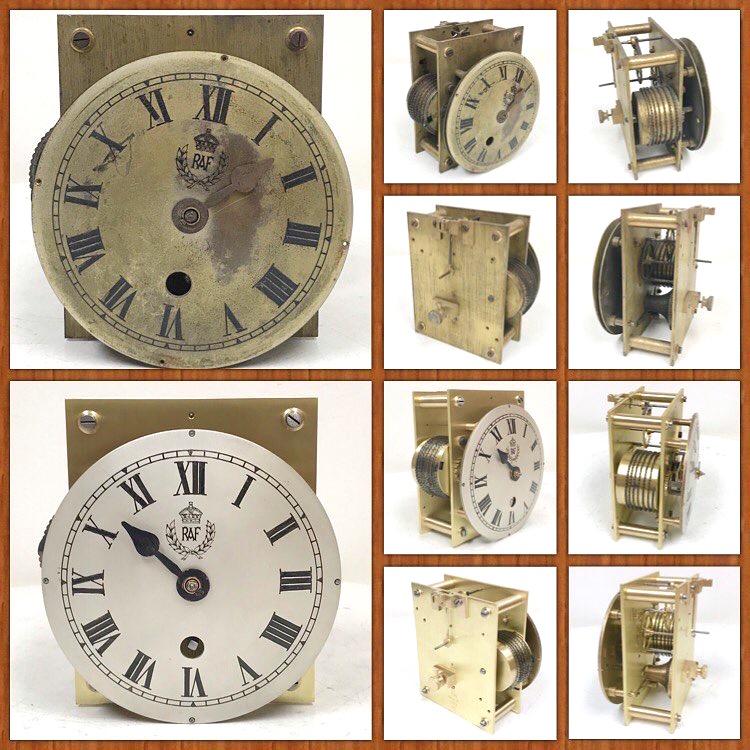 RAF Clock Dial Silvering