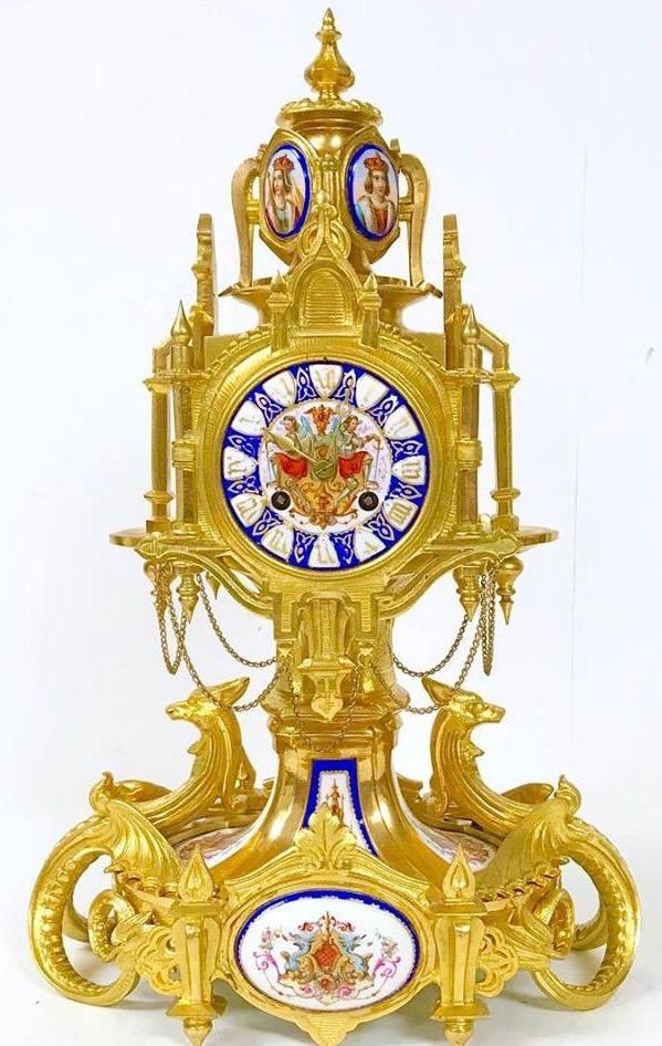 Bronze Oromlu French Mantel Clock