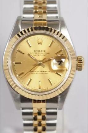 Rolex Watch Gold & Steel Date Watch