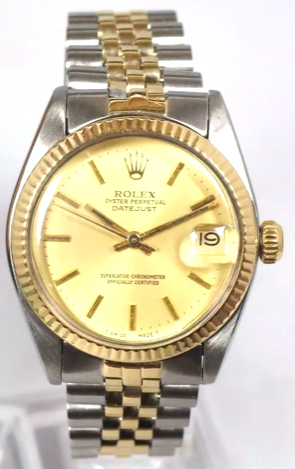 Rolex Watch GoldTurn O Graph Watch