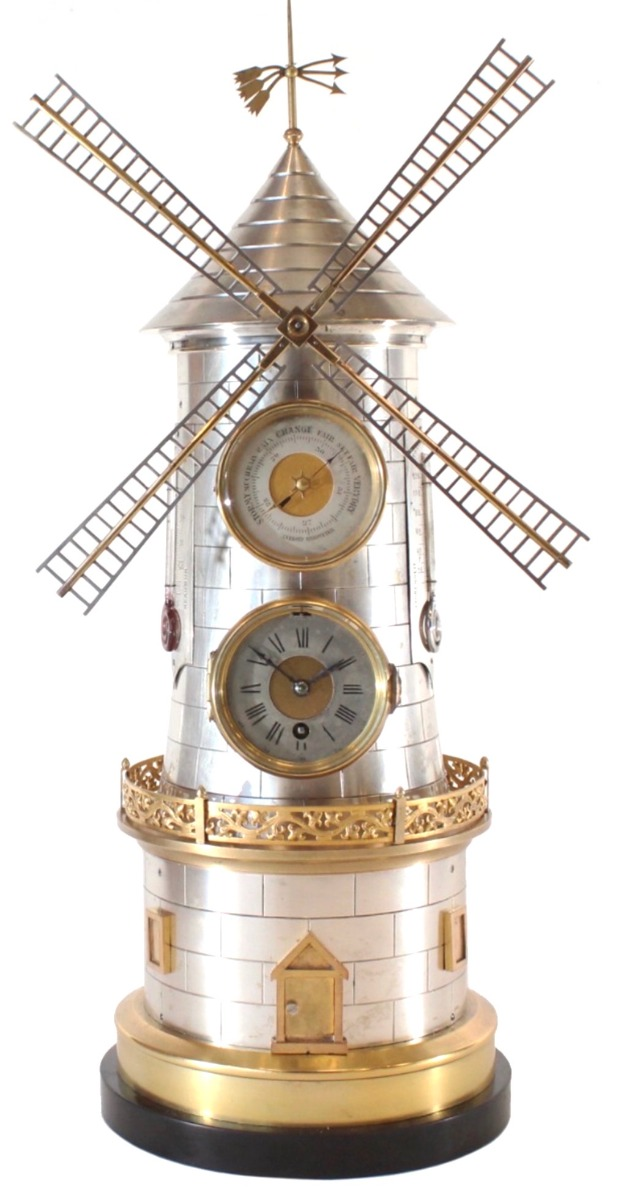 Windmill Clock by Gulimet Industrial Mantel clock For Sale