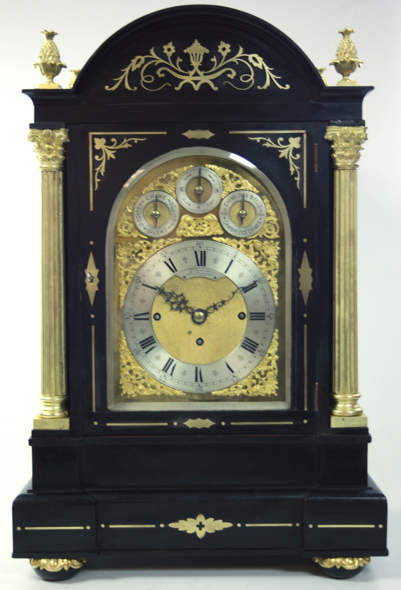 UK Horology English 8 Bell Musical Bracket Clock