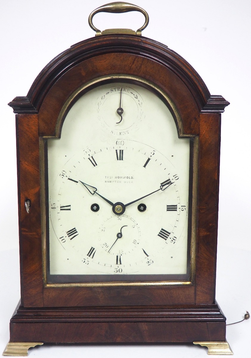UK Horology English Fusee Very Bracket Clock