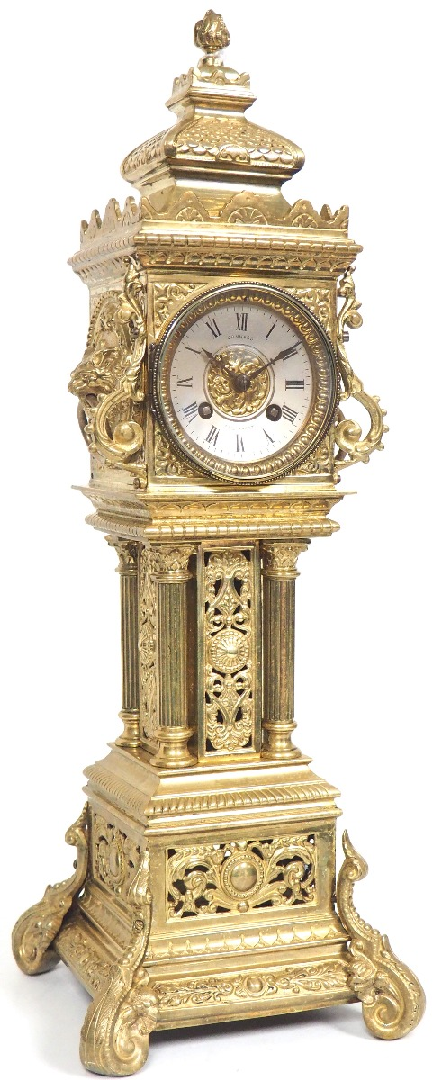Tower Clock by  Industrial Mantel clock For Sale